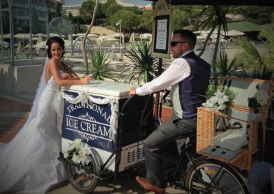 Algarve Ice Cream Bikes Sllider Image 1 - Algarve Weddings, Events and special Occasions
